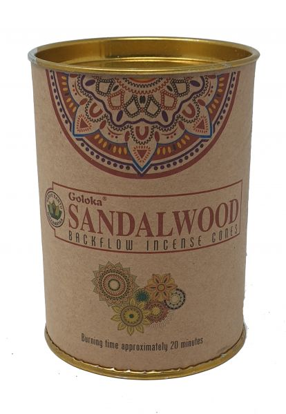 "Goloka ""Sandalwood"" Back Flow Cones"