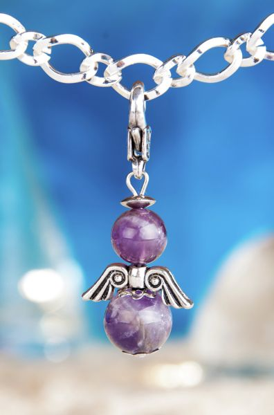 Transformations-Engel Charm Amethyst